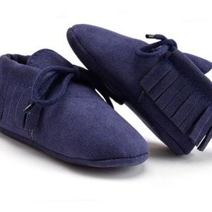 Other - Boutique baby pre-walker suede moccasins 6-12 mo.